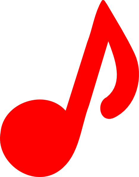 Red Music Note Clip Art at Clker.com - vector clip art online, royalty ...