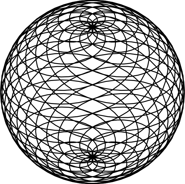 Sphere Outline Clip Art at Clker.com - vector clip art ...