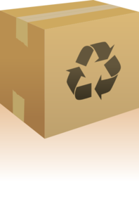 Box With Recycling Symbol Clip Art