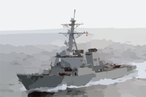 The Guided Missile Destroyer Uss John Paul Jones Clip Art