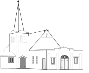 Church B&w Clip Art
