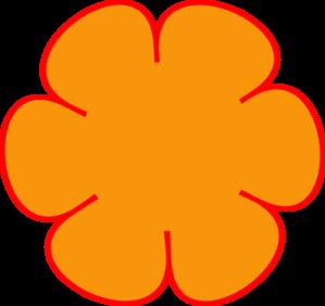 Orange Flower Clip Art