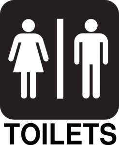 Male Female Toilets Road Sign Clip Art