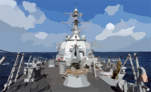 The Guided Missile Destroyer Uss Donald Cook (ddg 75). Clip Art