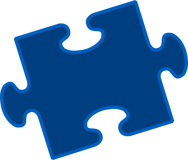 Blue Puzzle Pieces Clip Art at Clker.com - vector clip art ...