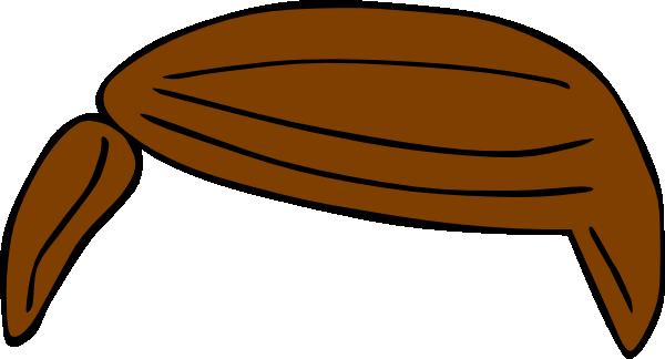 plain brown hair clip art at clkercom vector clip art