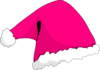 Pink Christmas Hat Clip Art