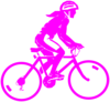 Female Pink Biker Clip Art