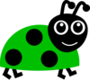 Green Lady Bug Clip Art