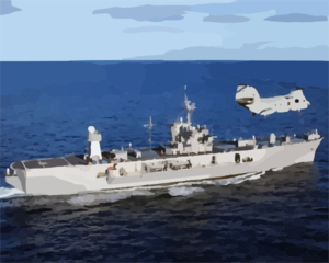 The Amphibious Command Ship Uss Mount Whitney (lcc 20) Underway Clip Art