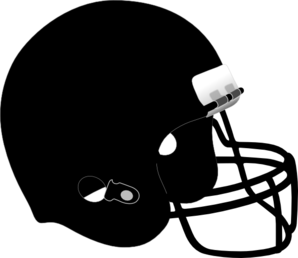 Football Helmet Black Clip Art