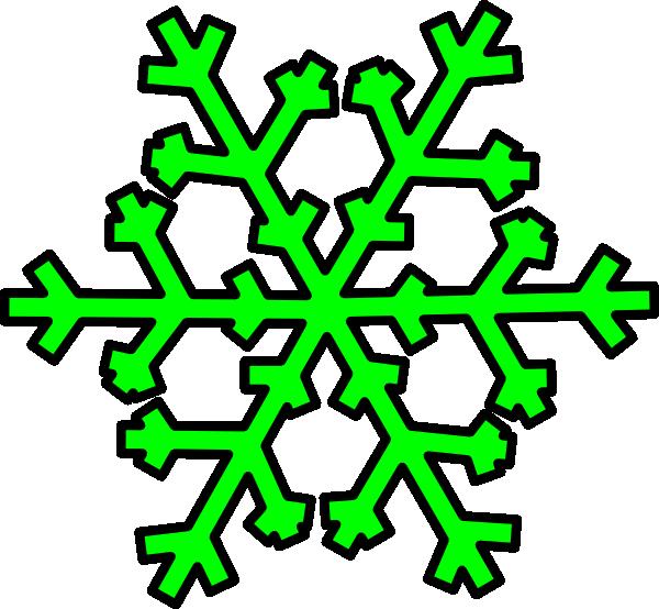 Green Snowflake Clip Art at Clker.com - vector clip art ...
