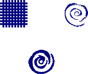 Fire Spiral Dark Blue Clip Art
