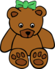 Bear With Ribbon Clip Art