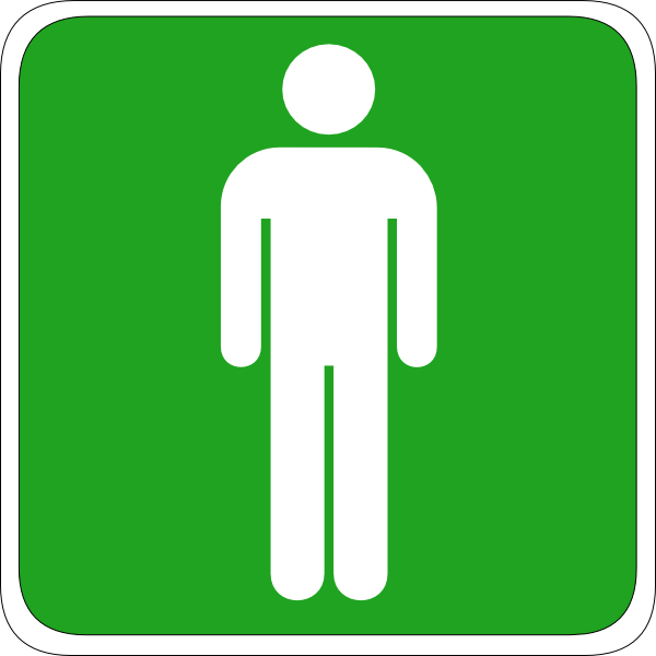 Man Toilet Sign Clip Art At Vector Clip Art