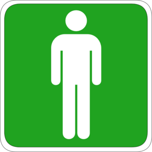 Bathroom Sign Male Vector man toilet sign clip art at clker - vector clip art online