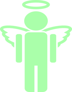 Green Unknown Angel Clip Art