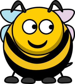 Bee Looking Right Clip Art