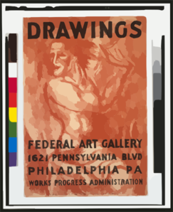 Federal Art Gallery Poster Drawing Clip Art