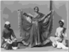 Nautch Girl Dancing With Musicians Accomp. Calcutta, India Ca. 1900. Clip Art