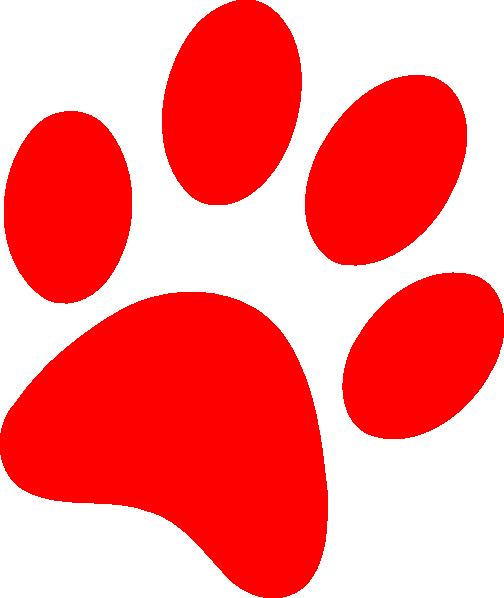 Red dog paw logo - photo#6