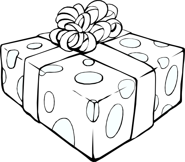 Gift Outline Clip Art at Clker.com - vector clip art ...