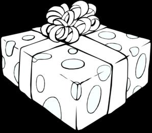 Christmas Present Outline Clip Art