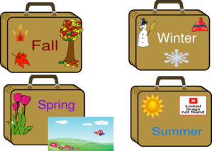 Season Suitcases Clip Art