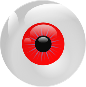 Eyeball Red Clip Art at Clker.com - vector clip art online, royalty ...