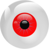 Eyeball Red Clip Art