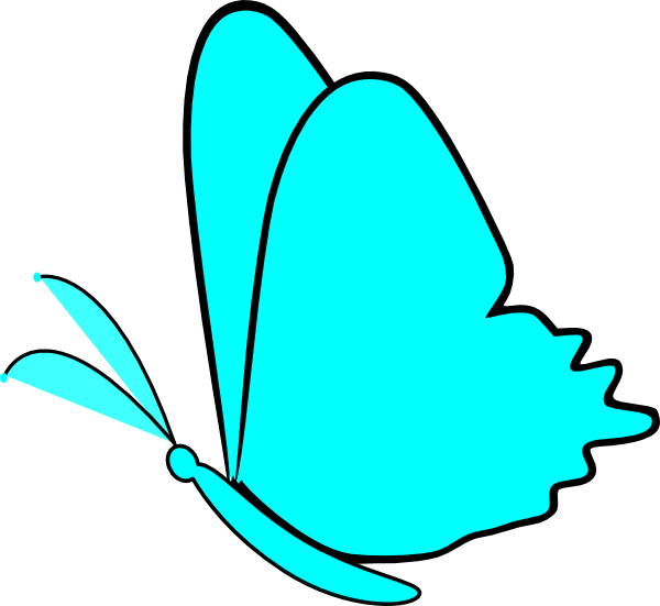 simple blue butterfly clip art at clker com vector clip art online rh clker com simple clipart pictures simple clipart images