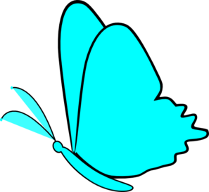 Simple Blue Butterfly Clip Art