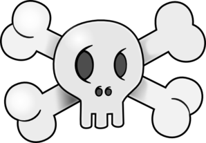 Skull With Cross Bones Clip Art