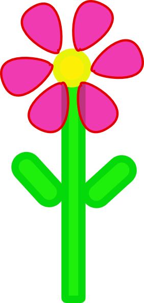 pink flower clip art free. Pink Flower