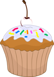 Muffin Sprinkle Clip Art