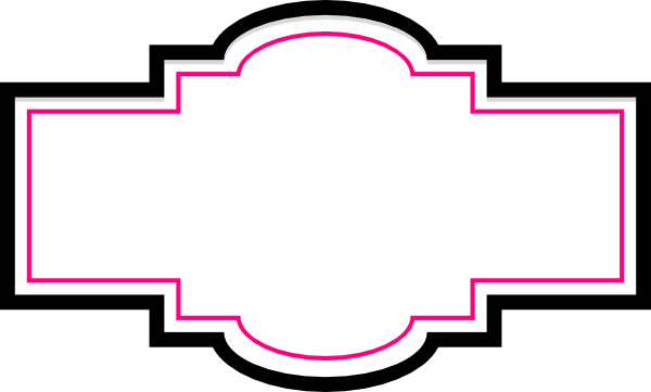 Decorative Box Clipart : Box label pink and black clip art at clker vector
