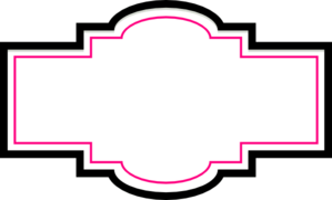 Box Label - Pink And Black Clip Art