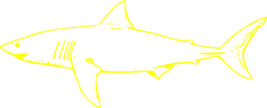 Yellow Shark Clip Art
