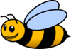 Happy Bee Clip Art