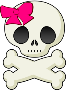 Skull And Bows Clip Art