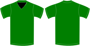 Green V-neck T Clip Art
