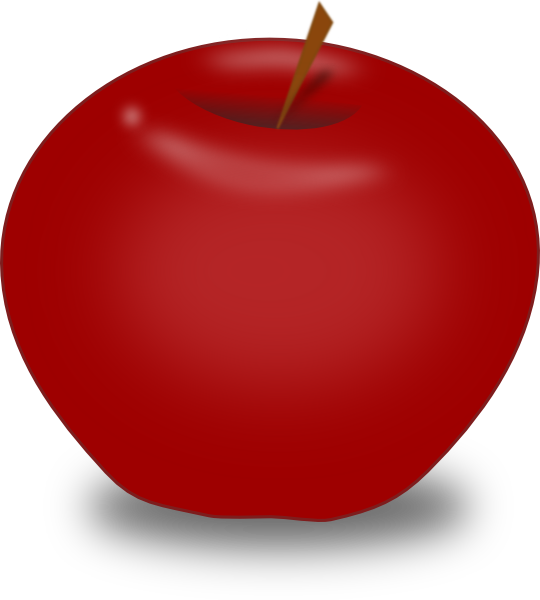 red apple clipart - photo #27