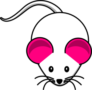 Pink White Mouse2 Clip Art