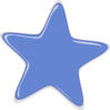 Blue Cartoon Star Clip Art