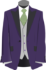 Purple Suit Clip Art