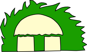 Small Building Shed Dome Clip Art