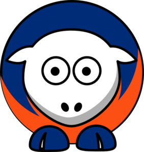 Sheep New York Mets Team Colors Clip Art