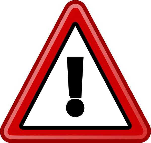 Warning Sign Bl-bg Clip Art at Clker.com - vector clip art ...