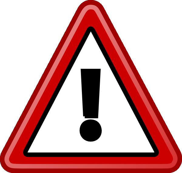 warning sign blbg clip art at clkercom vector clip art