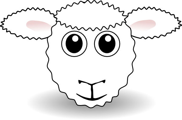 sheep face clip art at clker com vector clip art online royalty